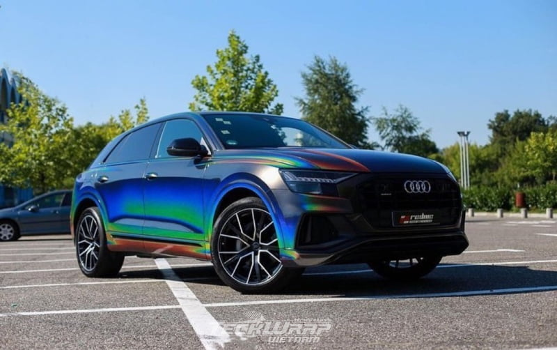 TeckWrap Vietnam RD11G 2 Audi dán decal đổi màu chuyển sắc TeckWrap RD11G Rainbow Vorte